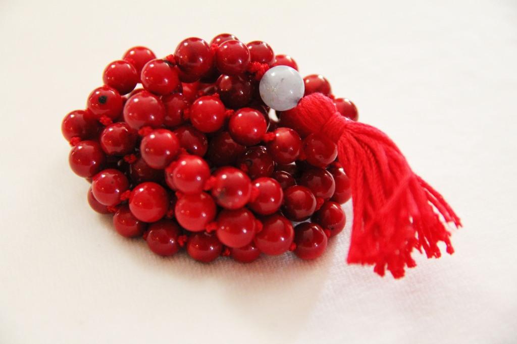 red coral mala