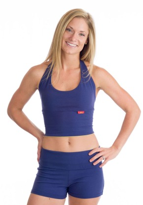 Beckons Yoga Clothing Love Halter Top in Purple