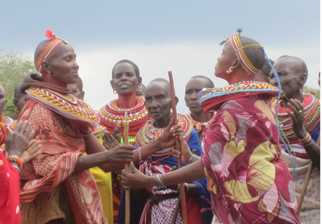 Samburu_people in traditional garments