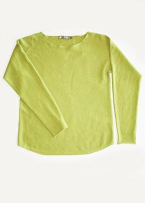 cashmere beaute neck lime flat 72